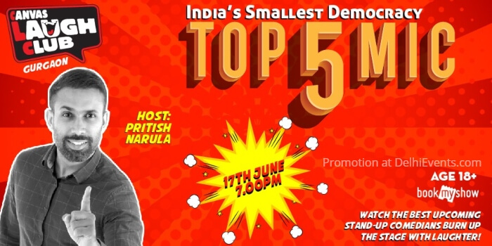 Top 5 Open Mic Hinglish Standup Comic Acts Pritish Narula Canvas Laugh Club Creative