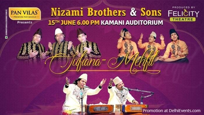 Felicity Theatre Sufiana Mehfil Qawwali Nizami Brothers Kamani Creative