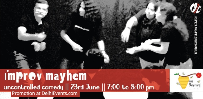 Improv Mayhem Uncontrolled Comedy Beehive Creative