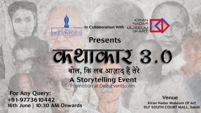 Kathakaar Storytelling Event Modern Poets KNMA Creative