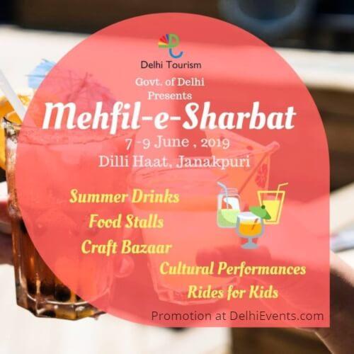 Delhi Tourism Mehfil Sharbat Dilli Haat Janakpuri Creative