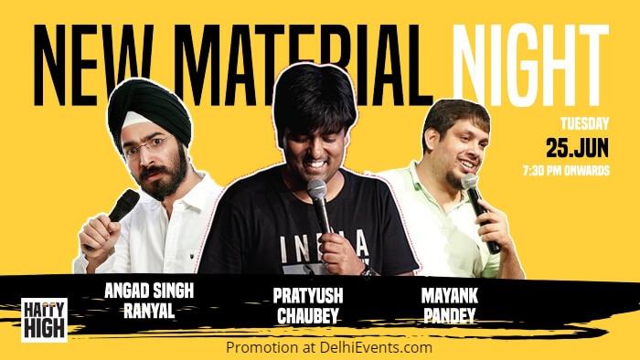 Material Night Hinglish Standup Pratush Chaubey Angad Singh Mayank Pandey Happy High Creative