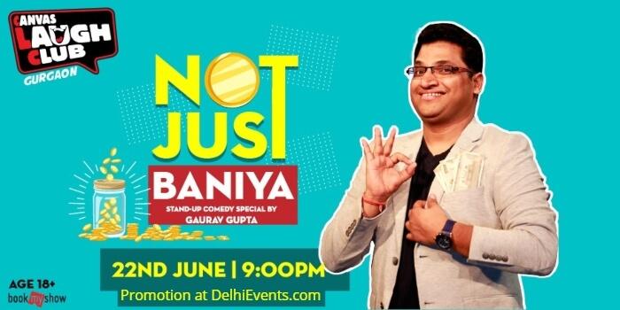 Not Just Baniya Standup Gaurav Gupta Canvas Laugh Club Creative