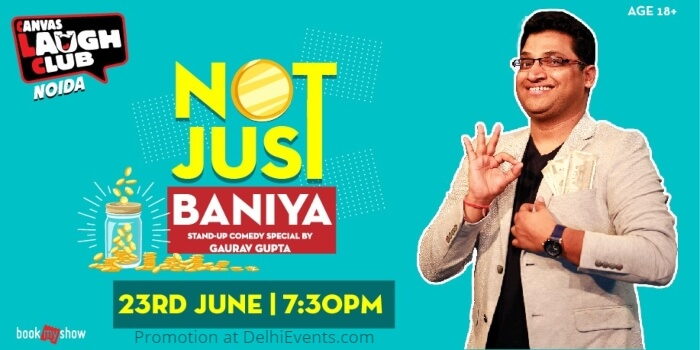 Not Just Baniya Standup Gaurav Gupta Canvas Laugh Club Creative