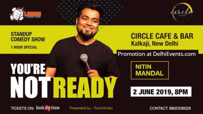 Punchliners standup Comedy Show Nitin Mandal Circle Cafe Creative