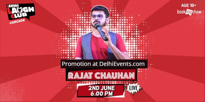 Hinglish Standup Rajat Chauhan Canvas Laugh Club Creative