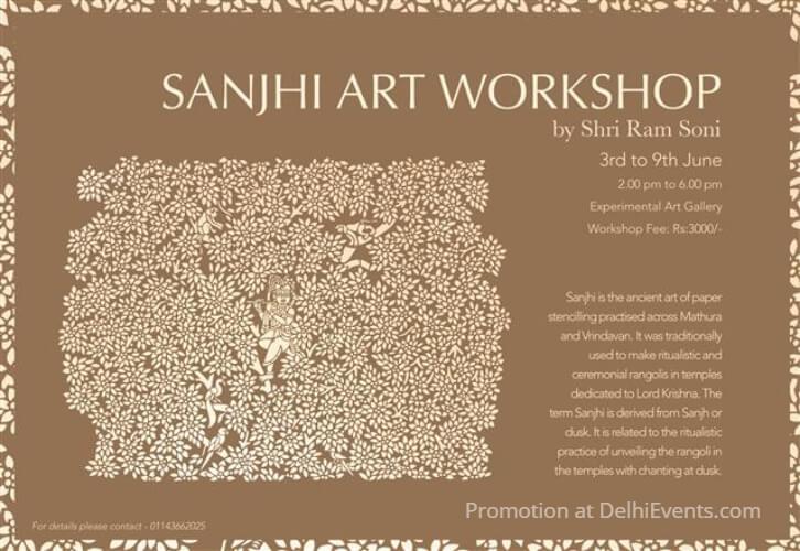 Sanjhi Art Workshop Shri Ram Soni IHC Creative