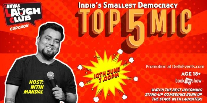 Top 5 Open Mic Standup Nitin Mandal Canvas Laugh Club Creative