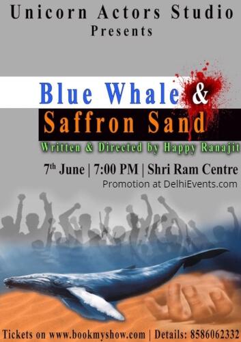 Unicorn Actors Studio Blue Whale Saffron Sand Play Shri Ram Centre Creative