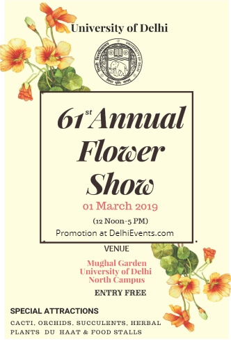 61st Annual Flower Show Mughal Garden University Delhi Creative