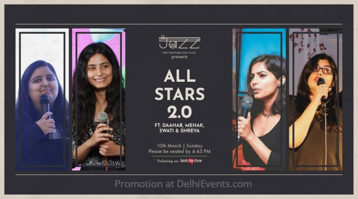 All Stars Daahab Mehak Swati Shreya Piano Man Jazz Club Creative