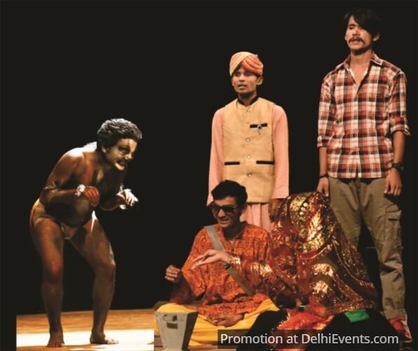 Bela Theatre Karwaan Haribhai Wadgaonkar Gadhe Baraat Comedy Play Still