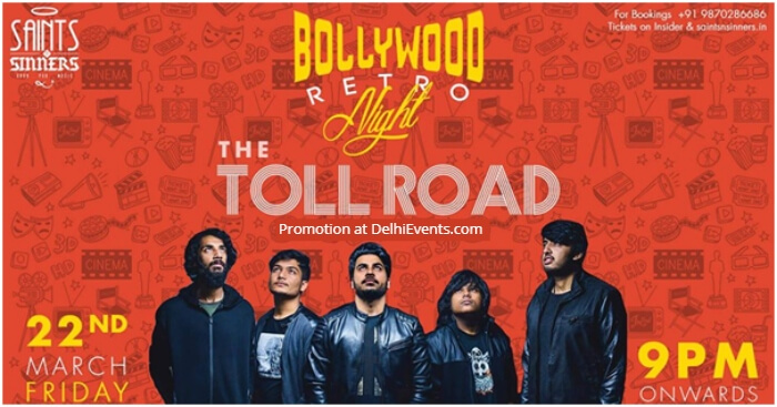 Bollywood Retro Night Toll Road Saints Sinners Creative