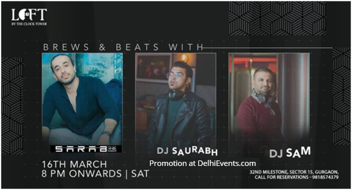 Brews Beats DJ Trio Saurabh Sarab Sam Loft Clock Tower Creative