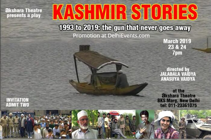 Kashmir Stories English Play Akshara Theatre Creative
