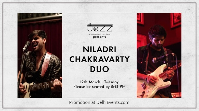 Niladri Chakravarty Duo Mridul Luthra Piano Man Jazz Club Creative