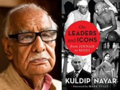On Leaders Icons Jinnah Modi Kuldip Nayar Book Cover