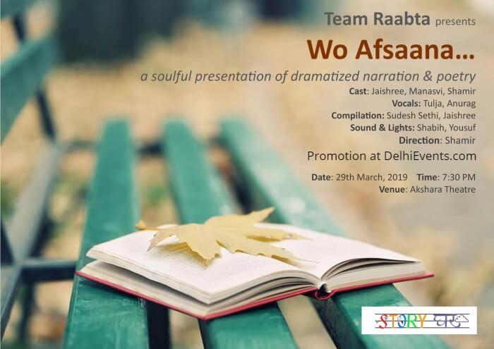 Team Raabta Wo Afsaana Akshara Theatre Creative