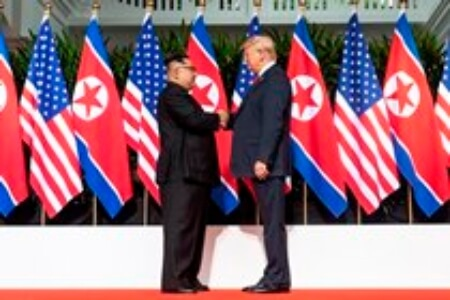 Trump Kim Summit Photograph