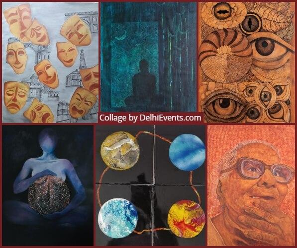 Shatkon group show paintings art 6 Women Exhibition Artworks