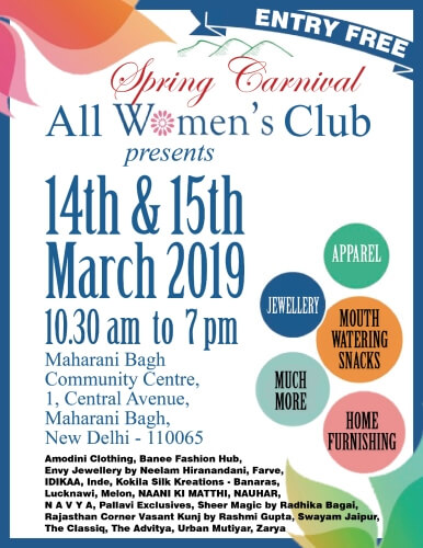 All Womens Club Spring Carnival 2019 Maharani Bagh Creative