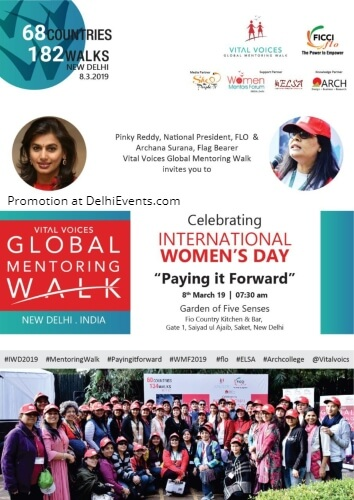 FICCI FLO Vital VoicesmGlobal Mentoring Walk International Women Day Creative