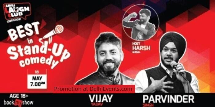 Best Standup Parvinder Singh Vijay Yadav Harsh Gujral Canvas Laugh Club Creative