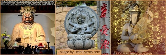 Indian Deities Japan Photographs Benoy K Behl