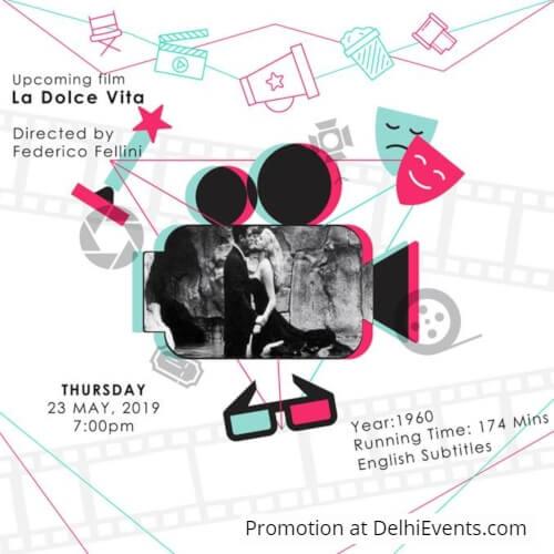 La Dolce Vita film Italian Embassy Cultural Centre Poster