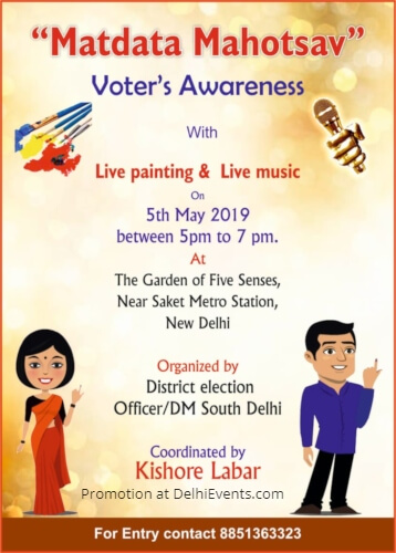 Matdata Mahotsav Voter Awareness Painting Music Garden Five Senses Creative