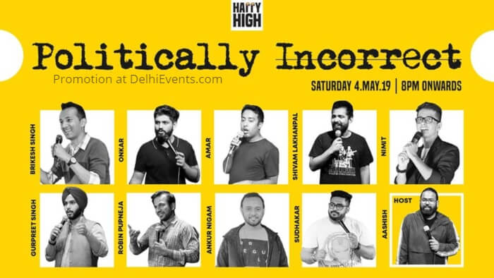 Politically Incorrect Standup Comic Acts Happy High Creative