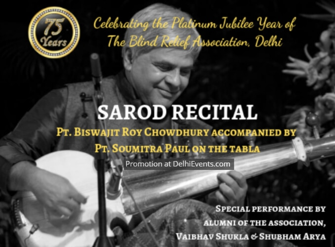 Sarod Recital Pt Biswajit Roy Chowdhury Blind Relief Association Creative