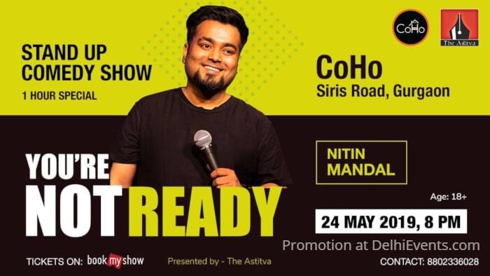 Hinglish standup comedy show Nitin Mandal Coho Creative