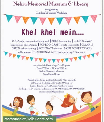 Khel Khel Mein Children Workshop NMML Creative