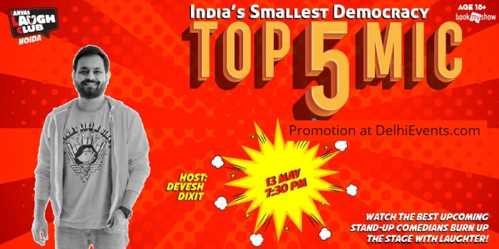 Top 5 Open mic standup Devesh Dixit Canvas Laugh Club Creative