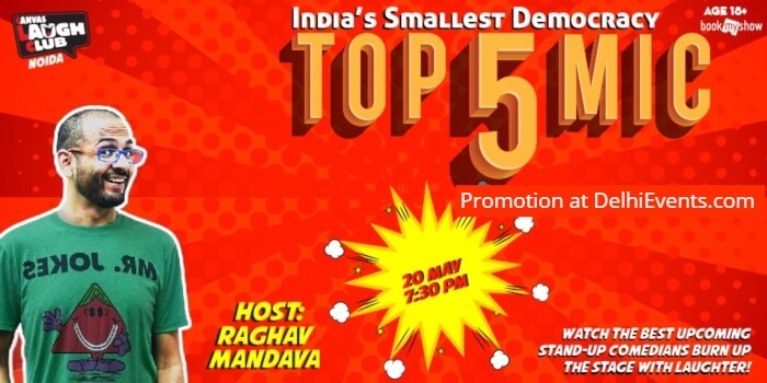 Top 5 Open mic standup comic acts Hinglish Raghav Mandava Canvas Laugh Club Creative