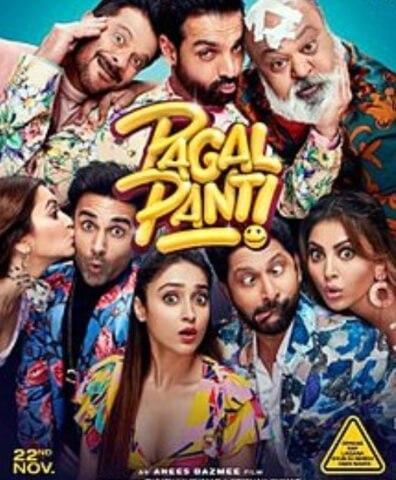 Pagalpanti Comedy Anil Kapoor John Abraham Ileana DCruz Arshad Warsi Film Poster