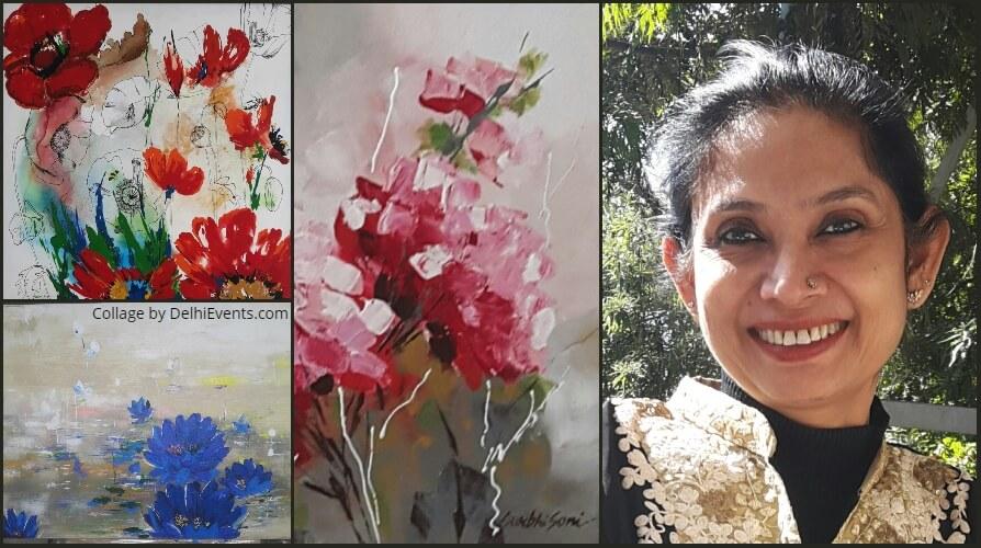 Phoolon Ke Rang Se Contemporary Artworks Surbhi Soni Rabindra Bhavan Mandi House Creative
