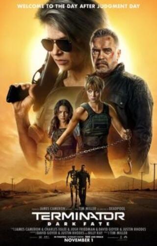 Terminator Dark Fate Linda Hamilton Arnold Schwarzenegger Film Poster