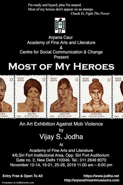 Most My Heroes Solo Art Show Vijay S Jodha Academy Fine Arts Literature Sirifort Institutional Area Creative