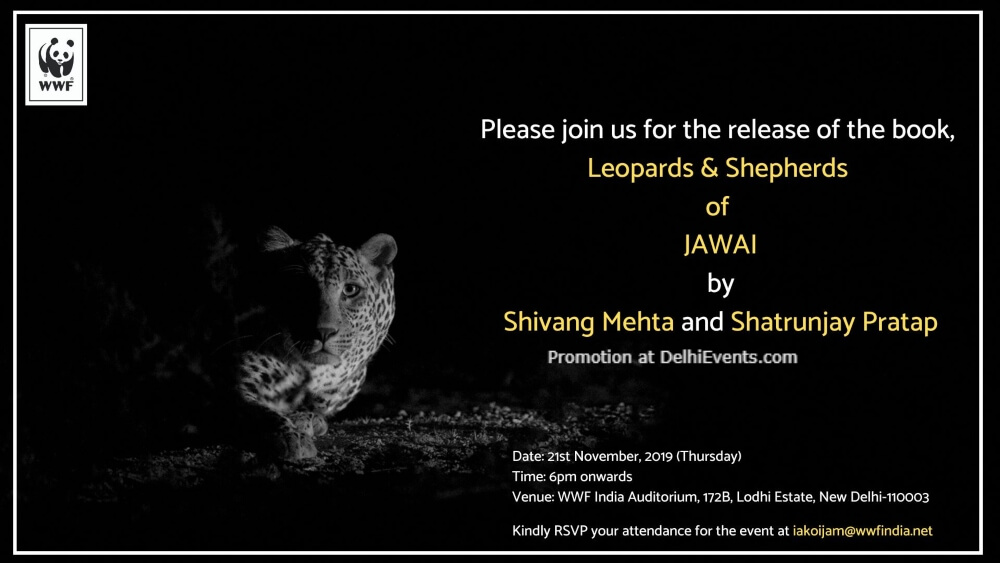 Leopards Shepards Jawai Book Launch WWF Lodhi Estate Creative