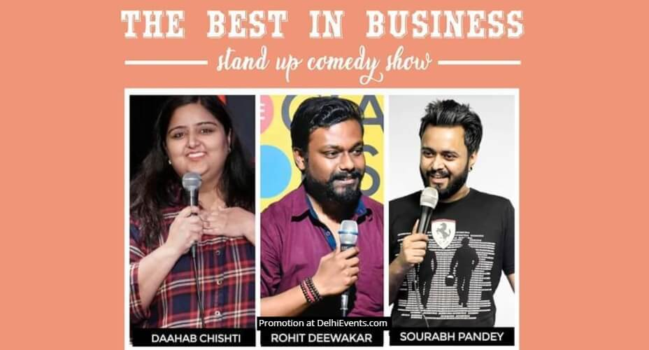 Best Business Standup Comedy Daahab Rohit Sourabh Garden House Cafe Shahpur Jat Creative