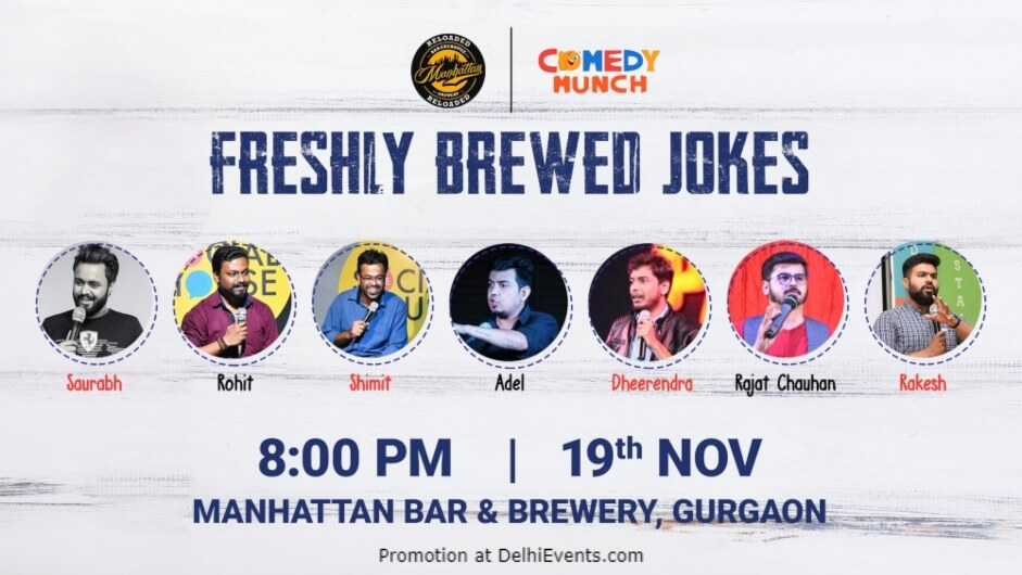 Freshely Brewed Jokes Standup Comedy Manhattan Bar Exchange And Brewery Gurugram Creative
