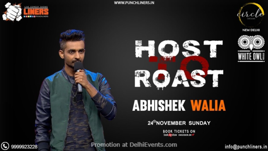 Host Roast Standup Comedy Abhishek Walia Circle Cafe Kalkaji Creative
