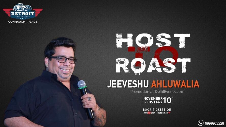 Host Roast Standup Comedy Jeeveshu Ahluwalia Detroit Garage Bar Kitchen CP Creative