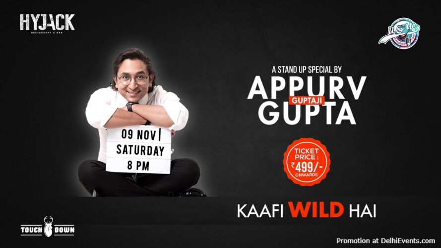 Kaafi Wild Hai Standup Comedy Appurv Gupta Hyjack Restaurant Bar Safdarjung Enclave Creative
