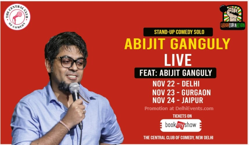 Standup Comedy Abijit Ganguly Akshara Theatre Baba Kharak Singh Marg Creative