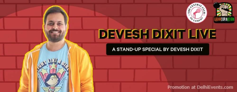 Standup Comedy Devesh Dixit Dribble Cafe Gurugram Creative