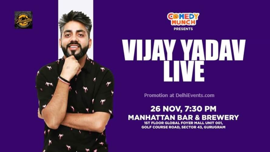 Standup Comedy Vijay Yadav Manhattan Bar Exchange And Brewery Gurugram Creative