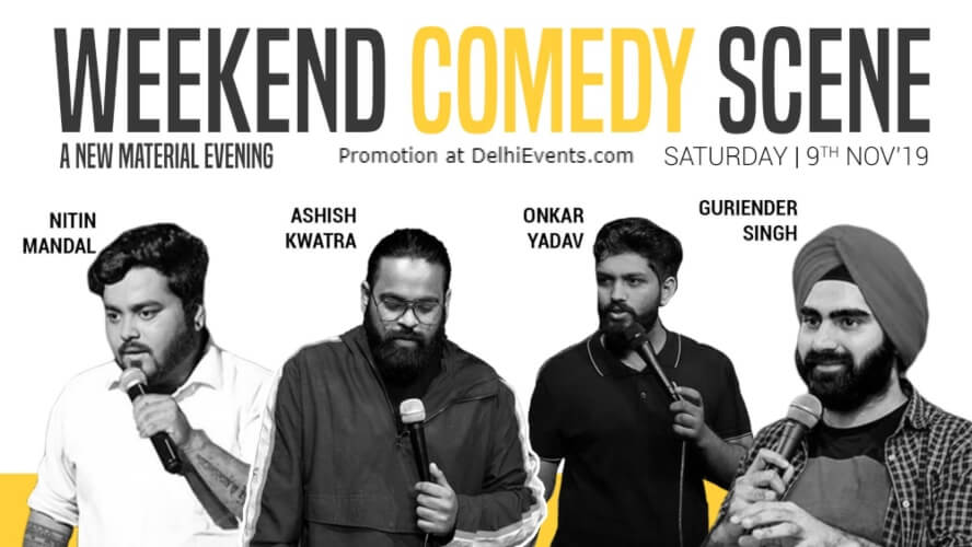 Weekend Comedy Scene Standup Gurinder Nitin Ashish onkar Happy High Shahpur Jat Creative